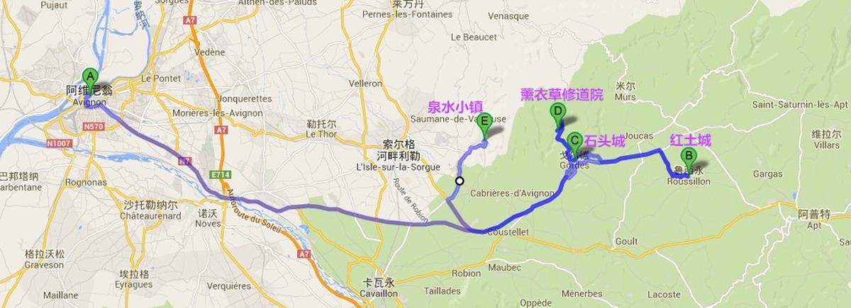 小镇路线图